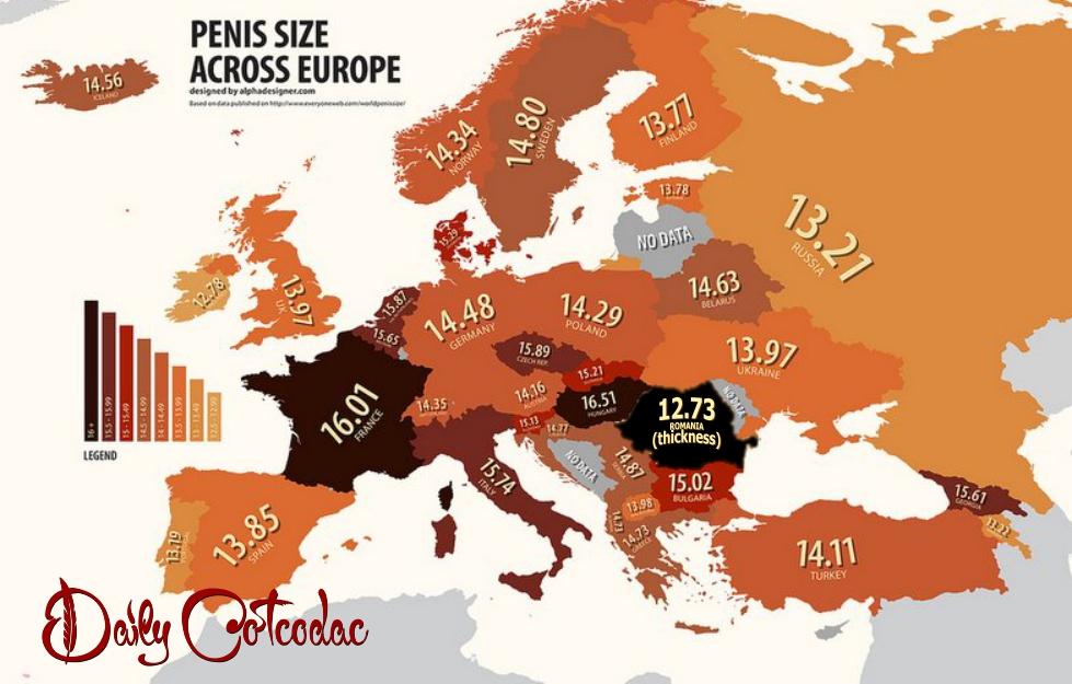 Harta mărimii sânilor şi penisului în lume. Vezi ce loc ocupă România