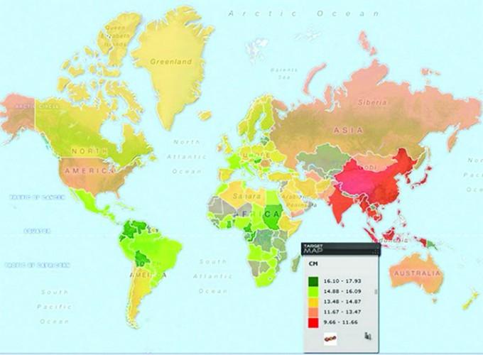 dimensiunea medie a penisului în Asia