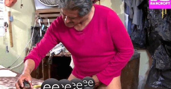 Naketano Tricou 'I Love My Penis' maro / gri amestecat - alaskanmalamutes.ro