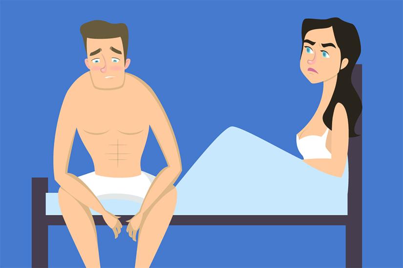 erecție repetată la un bărbat)